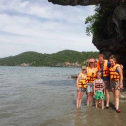 a family tourist Khanom Thailand