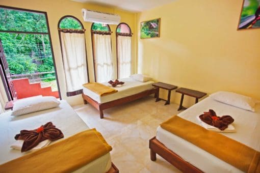 A tangerine-orange room_CocoHostel_Khao Sok Thailand