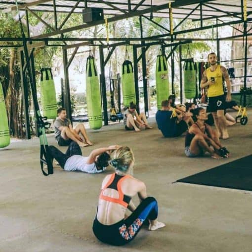 A Group Working out at Koh Fit Samui