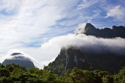 Mountains meeting clouds_CocoHostel_Khao Sok Thailand