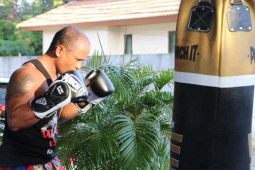Muay Thai fighter in training Punch it Gym Koh Samui Thailand