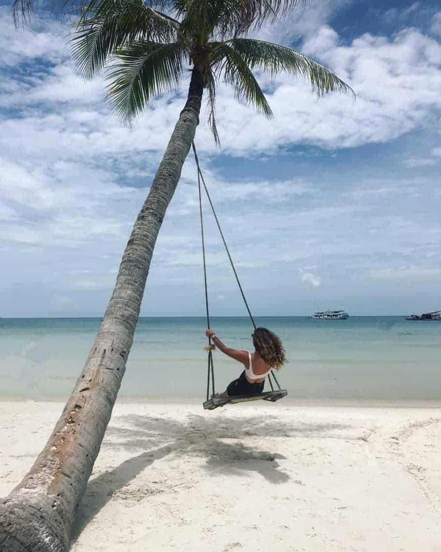 The tree swing on Bai Sao Beach, Phu Quoc Island, Vietnam.