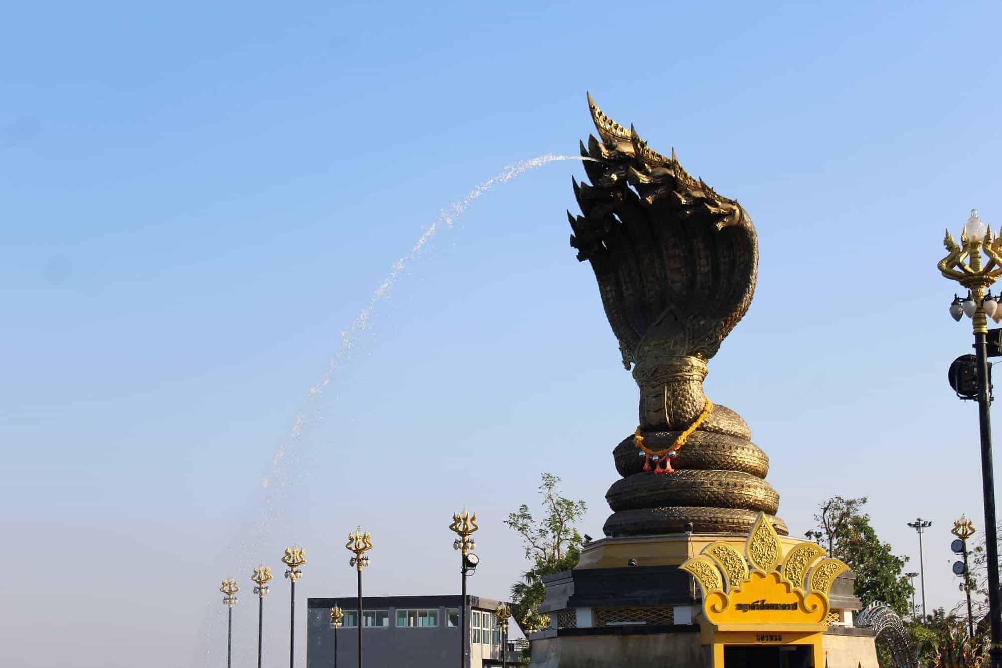 The Naga Statue in Nakhon Phanom