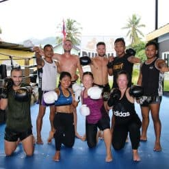 group of muay thai trainees Punch It Gym Koh Samui Thailand