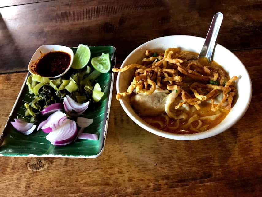 Khao Soi - A Northern Thai chicken curry dish.