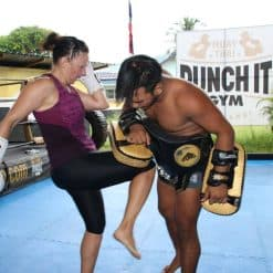 knee-kick Punch It Gym Koh Samui Thailand