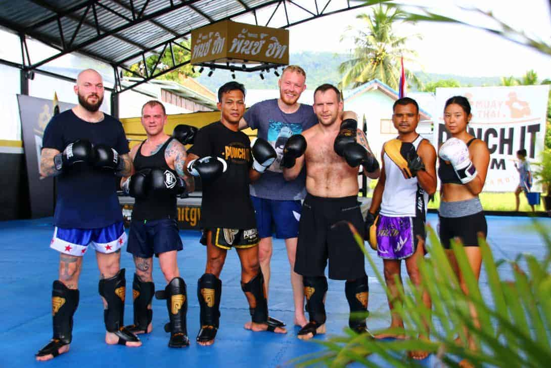 muay thai enthusiasts Punch It Gym Koh Samui Thailand