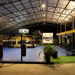 night view of Punch it Gym Koh Samui Thailand