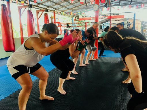 Muay Thai Practitioners Do Squats