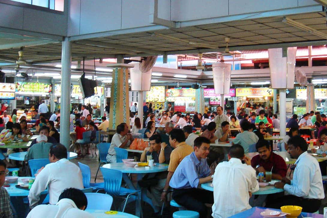 Hawker Centre in Singapore.