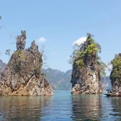 The amazing limestone karsts of Cheow Larn Lake, Khao Sok.