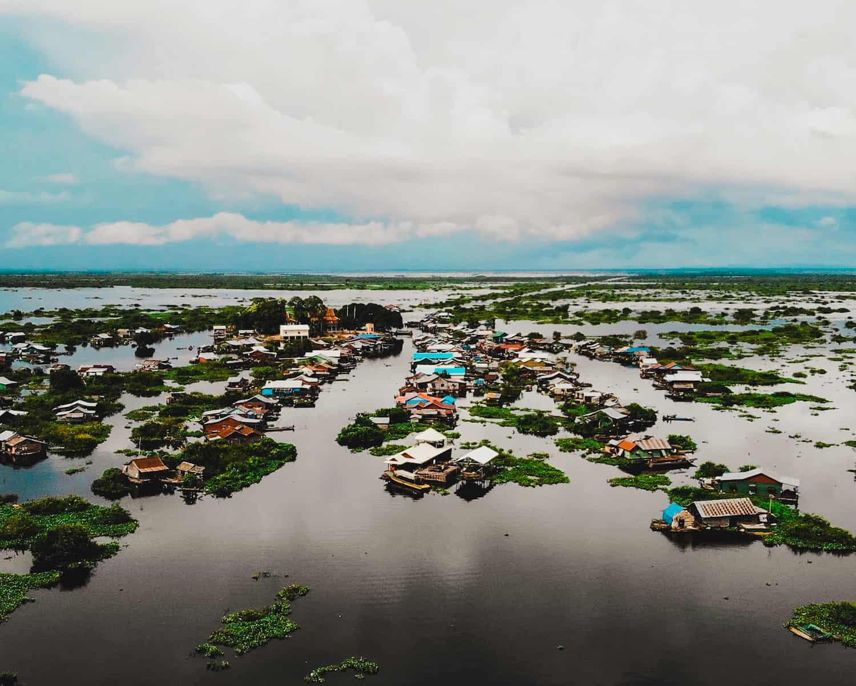 Mey Chrey floating village Siem Reap Cambodia.