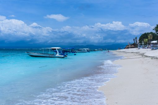 White sand beach Nusa Lembongan Indonesia