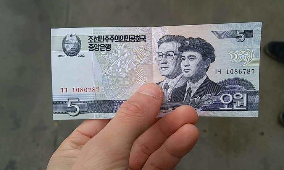 Fake North Korean Money Sold To A Traveller That Crossed The Border From Dan Dong in China