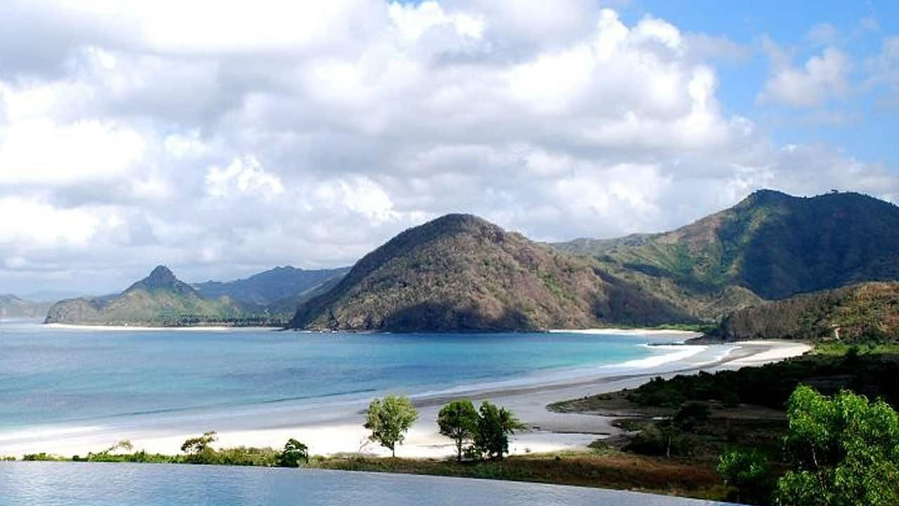 Selong Belanak Beach on Lombok, Indonesia