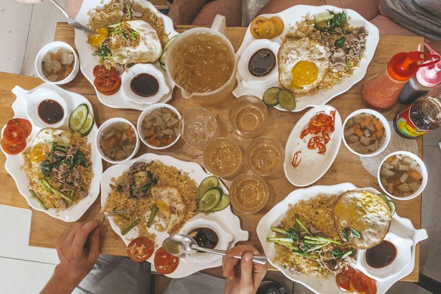 A Spread of Vietnamese Food