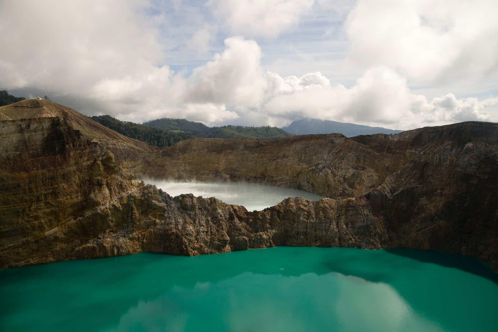 The View Across Kelimutu, Indonesia