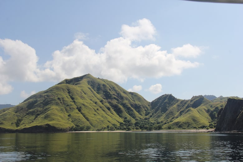 Komodo Island Seen From The Water