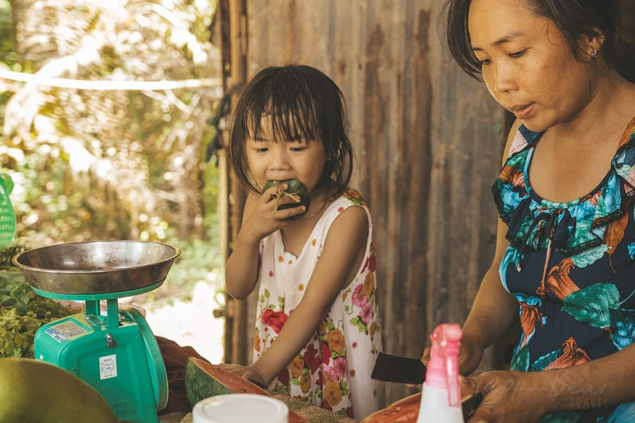 A Little Girl Eating Watermelon