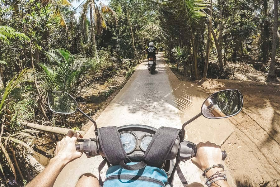 The View From a Scooter in Vietnamese Countryside