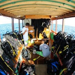 The Diving Deck on a Komodo Diving Center Boat