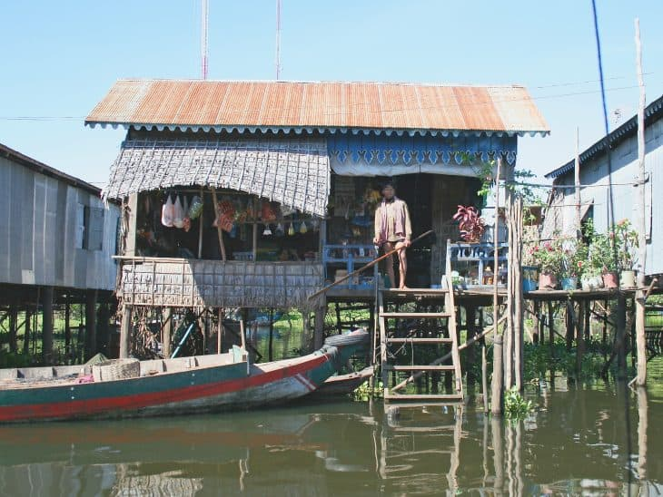 Tonle Sap Lake Floating Villages, Siem Reap, Cambodia.