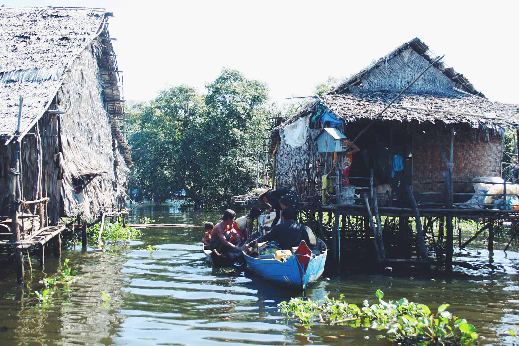 The floating villages of Tonlé Sap Lake.
