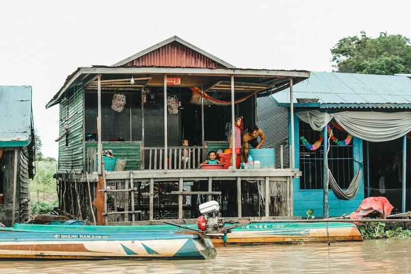 Local villagers in Mey Chrey, Puok District, Siem Reap, Cambodia.