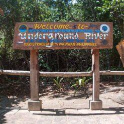 Puerto Princesa Underground River sign