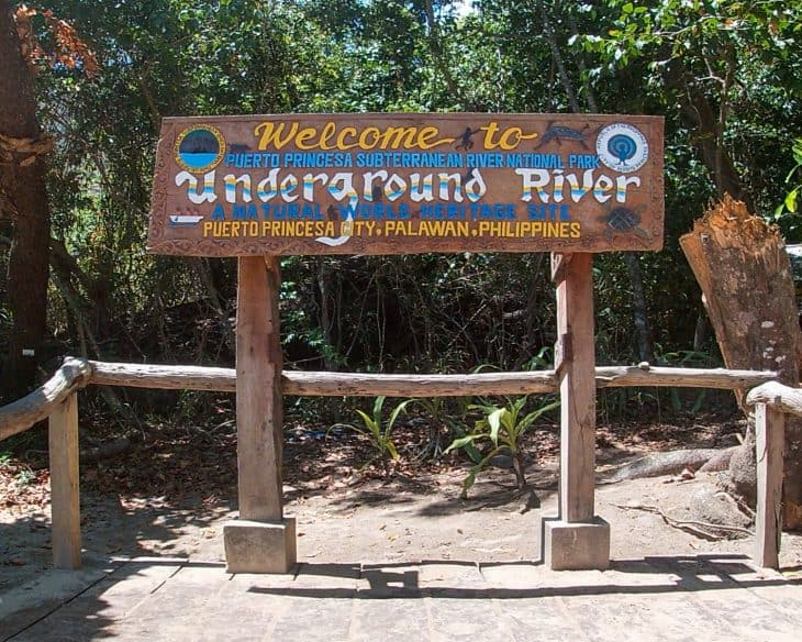 Puerto Princesa Underground River sign
