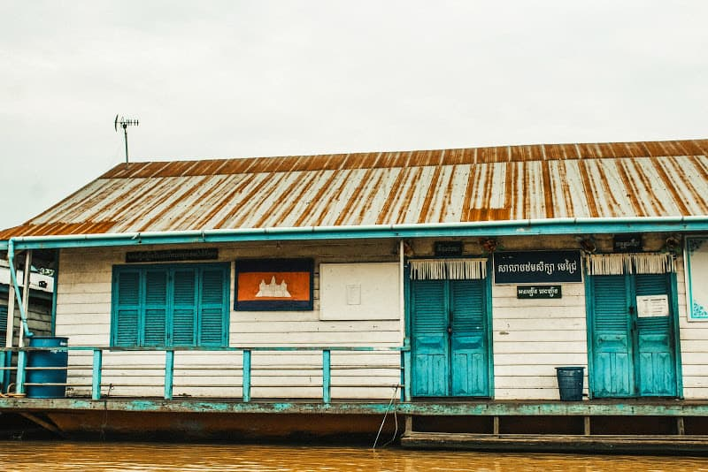 The 'floating' village school Cambodia