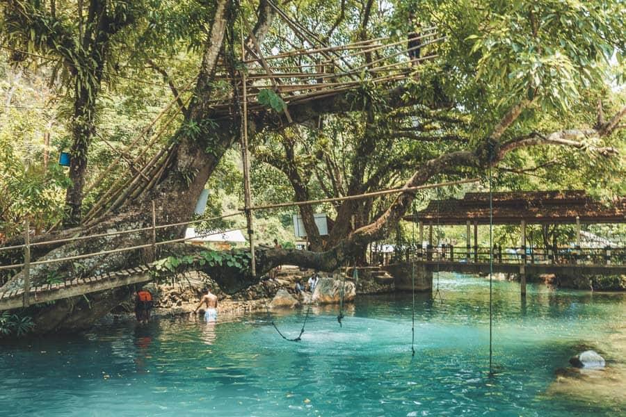 The Blue Lagoons of Vang Vieng, Laos.