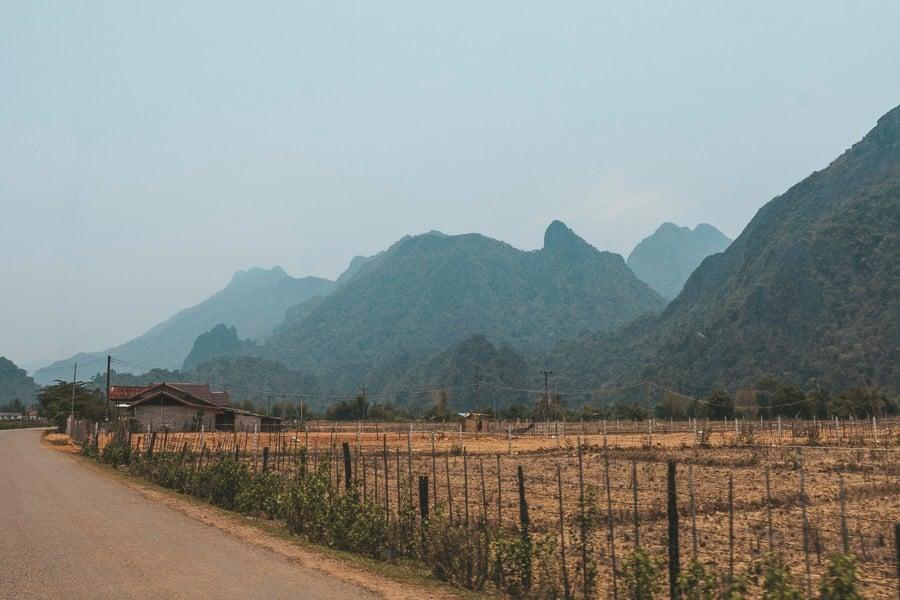 Vang Vieng - Farmland Views.