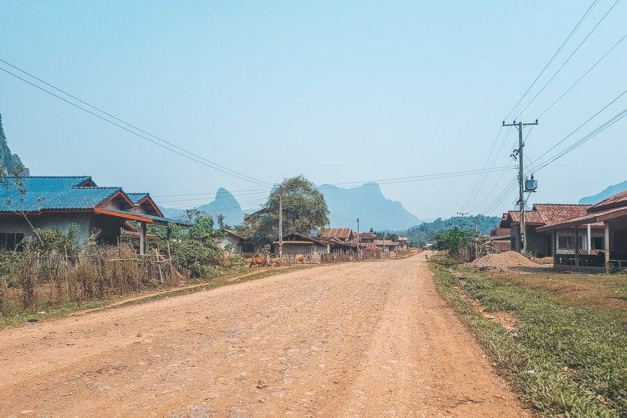 Village on the Loop, Vang Vieng, Laos.