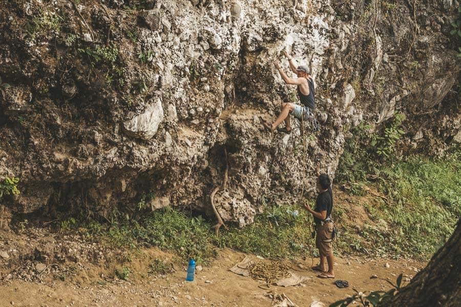 Vang Vieng - Climbing with Adam's Climbing School