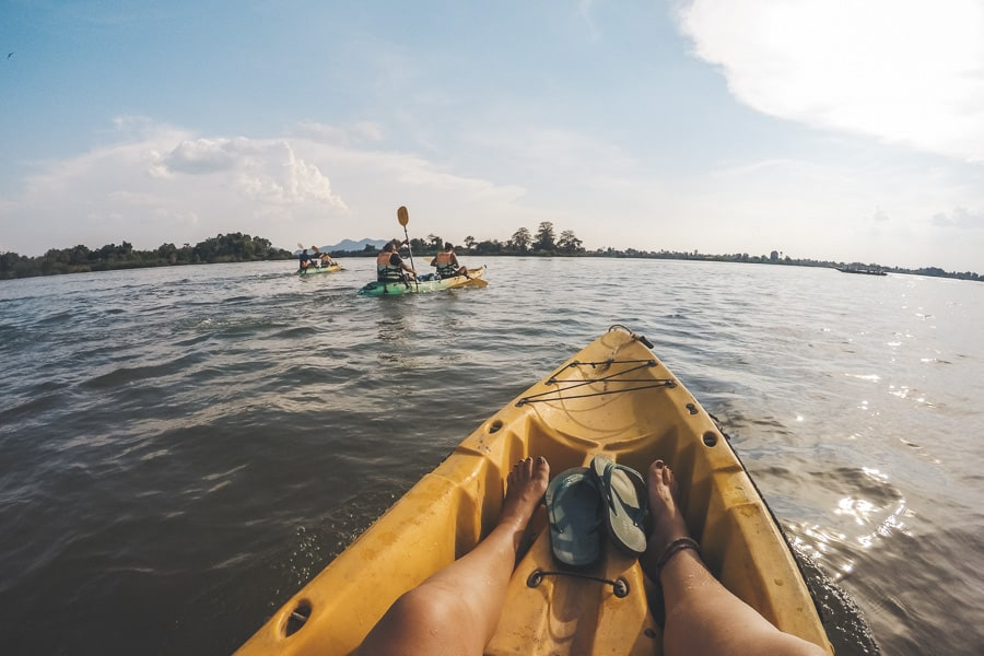 Kayaking Down the Mekong River