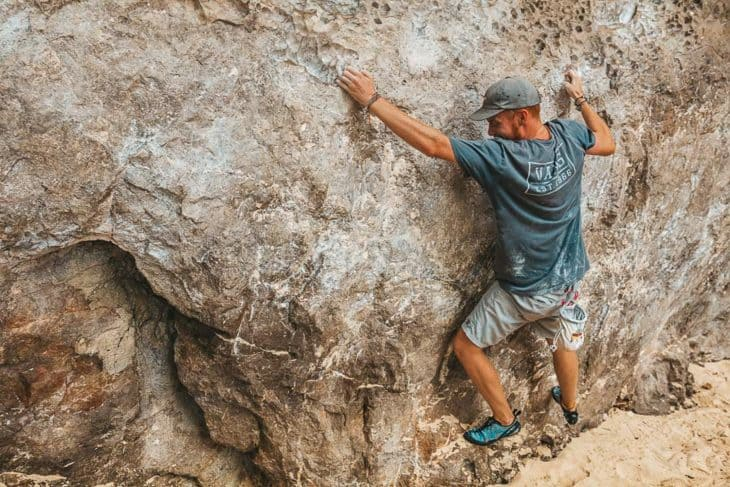 Bouldering at Phra Nang Wall