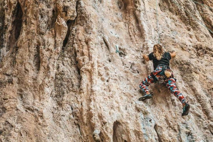 Girl Climbing Phra Nang Wall