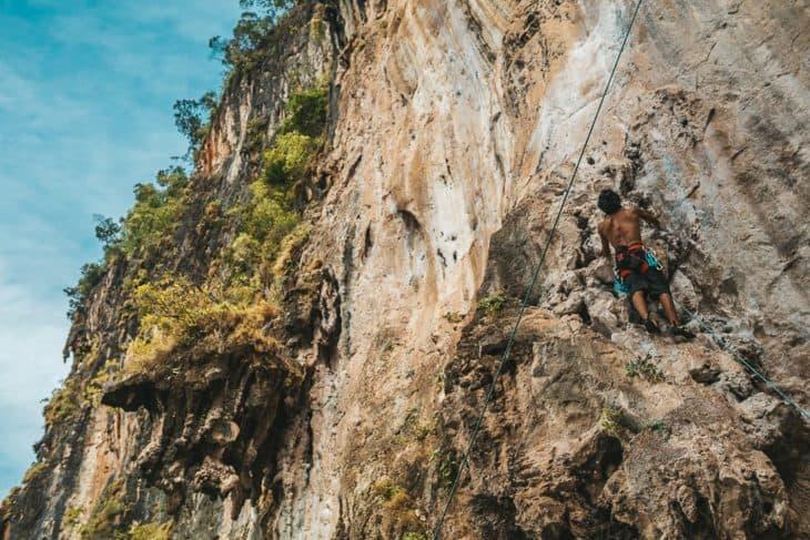 Climber at 123 Wall Railay