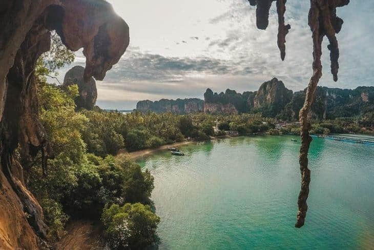 View From the Top of 'Massage Secrets', 123 Wall, Railay
