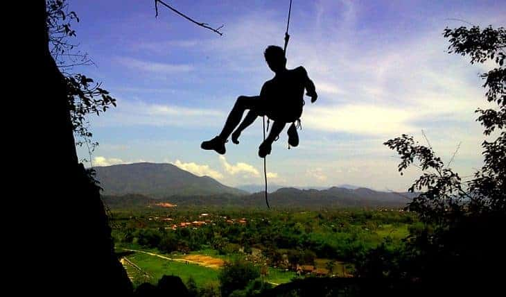 Rock Climbing in Vang Vieng, Laos: A Must for Adrenaline Junkies!