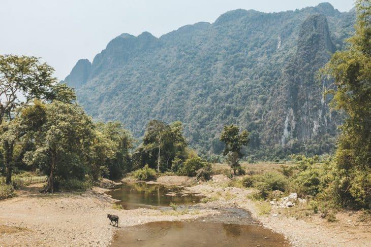 Scenery in Vang Vieng