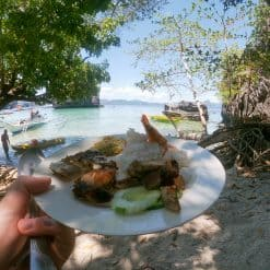 Lunch on beach