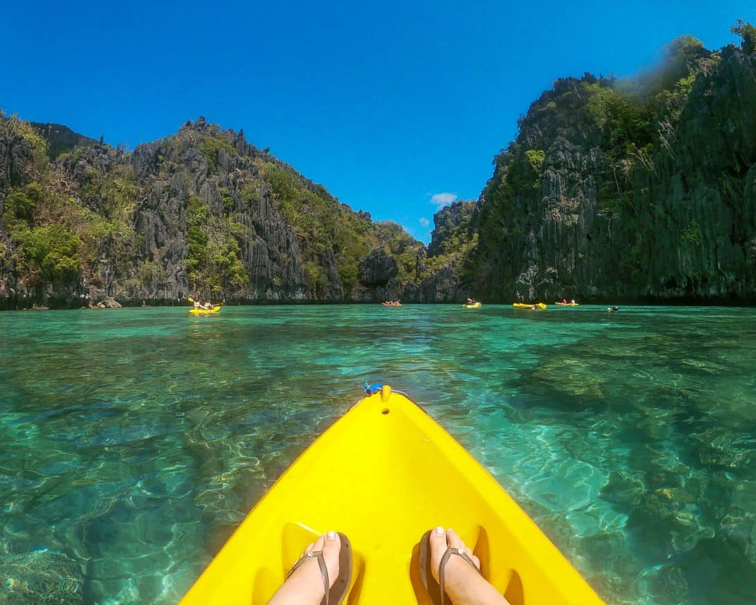 Kayaking small lagoon