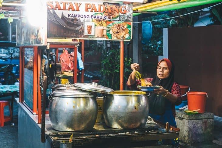 Satary Stall on Kuala Lumpur food tour