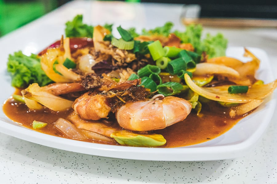Sambal Udang Petai in Kak Som Restaurant