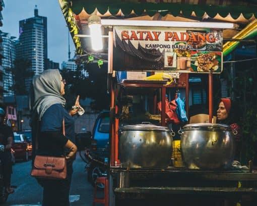 Satay Padang Stall side