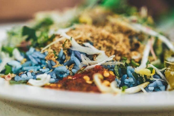 Nasi Kerabu in Kak Som Restaurant Kampung Baru
