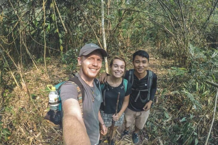Three people selfie