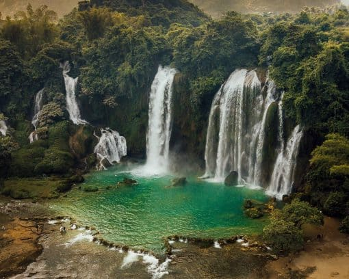 Ban Gioc Waterfall by Olivier Langevin